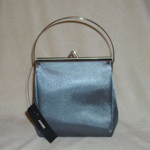 DKNY METALIC GRAY MINI EVENING BAG NWT